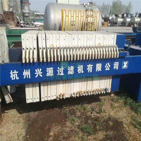 二手压滤机 二手100平方隔膜压滤机 板框压滤机 箱式压滤机