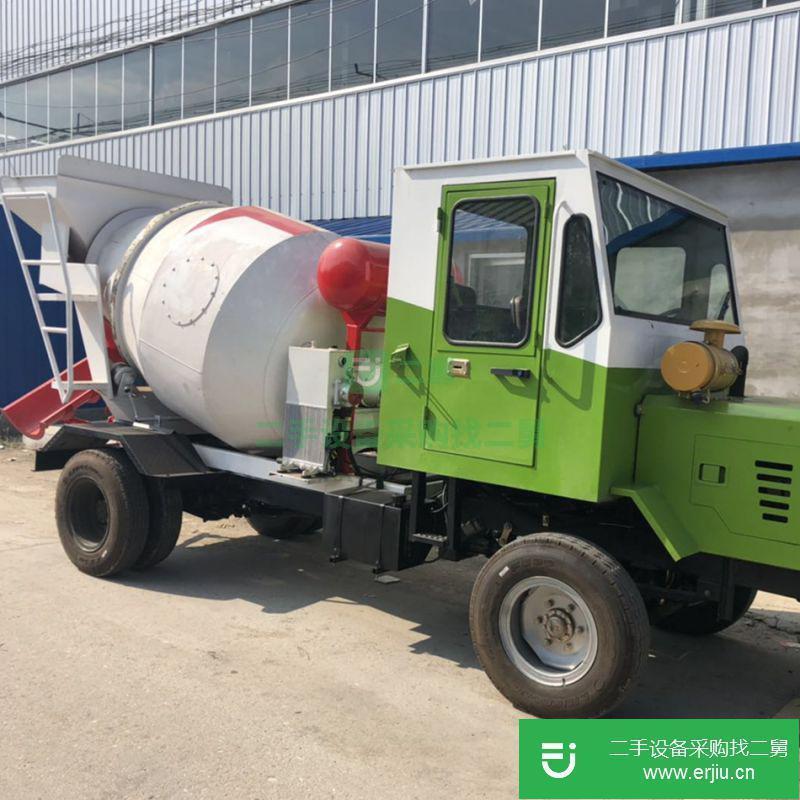 海川2方四驱混凝土运输车 山区施工四驱混凝土二手搅拌车价格¥6.50万